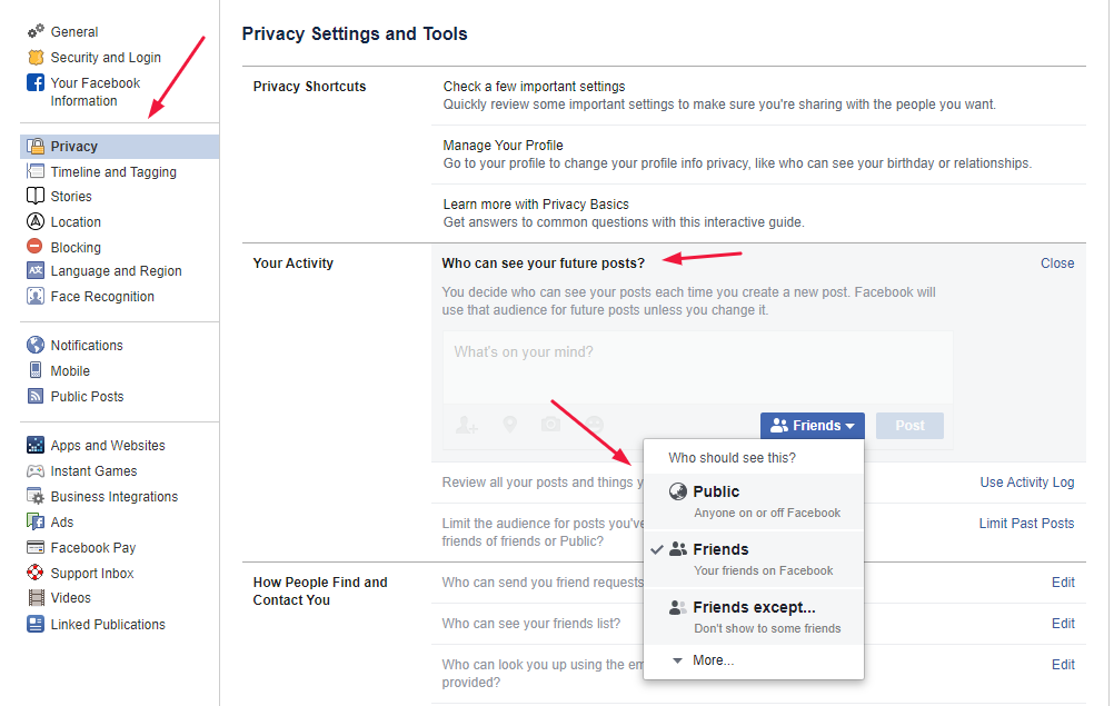 privacy facebook post