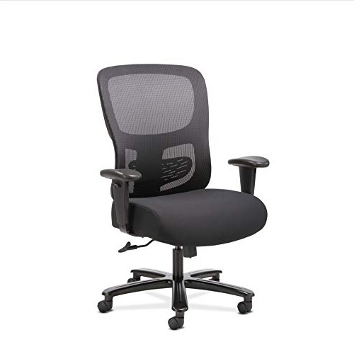 Sadie Big and Tall Office Computer Chair, Height Adjustable Arms with Adjustable Lumbar