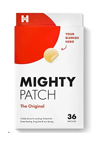 The Original Award-Winning Acne Patch-- Mighty Patch is a hydrocolloid sticker that visibly flattens pimples overnight. No popping necessary. Just stick it on, get some beauty sleep, and wake up with clearer skin.