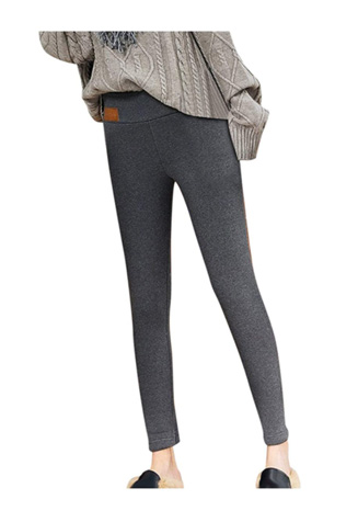 Women's Fleece Lined Leggings High Waisted Tight Thick Thermal Plush Winter Warm Pants Slim Leggings